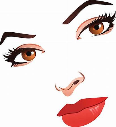 Face Clipart Vector Clip Woman Young Clipground