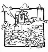 Lighthouse Coloring Pages Beach Adults Lighthouses Adult Drawing Printable Summer Line Newfoundland Books Colour Cool Sea Template Easy Colouring Sheets sketch template