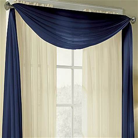 jcpenney sheer curtains with valance american living valances cape sheer scarf jcpenney in