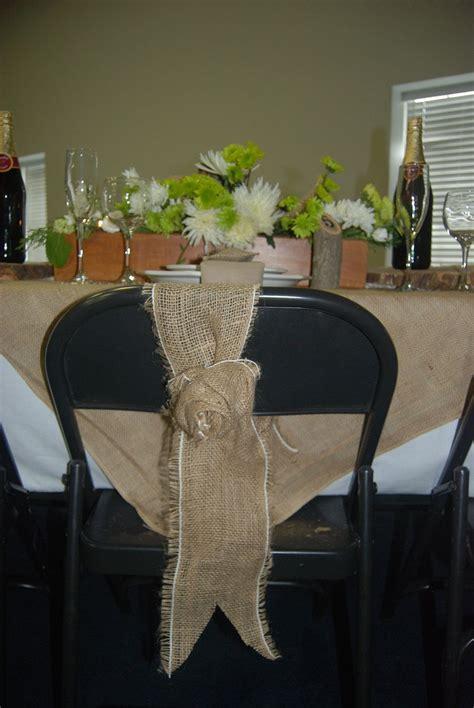Rustic Weddings Burlap Burlap Rosette Chair Wrap Rustic