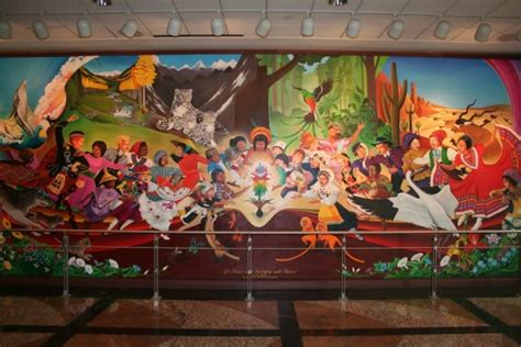 Denver Airport Murals Painted by Sinister The Denver International Airport
