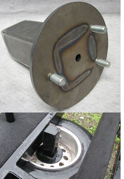 trailer spare tire carrier  carriage mount  boat