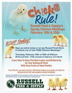 Chicken Meetings Flyer :: Russell Feed & Supply