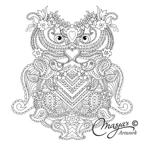 Engelenvleugels Kleurplaat by Mijn Wonderlijk Wereld Owl Zentangle Coloring Pages