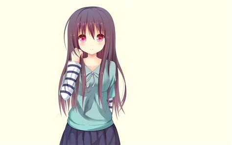 long hair purple hair pink eyes simple background anime
