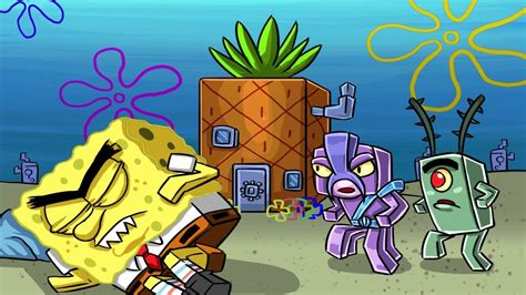 Sneaking Into Evil Spongebobs House! (most
