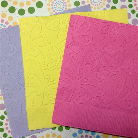 butterfly napkins embossed paper napkin wedding