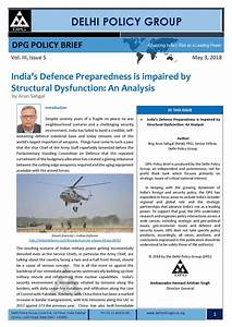India's Defence Preparedness is impaired by Structural ...
