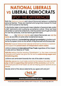 National Liberals V Liberal Democrats Spot The Difference