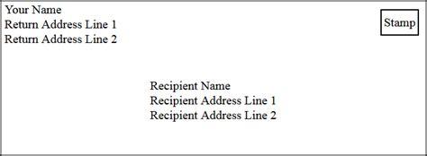 addressing  envelope
