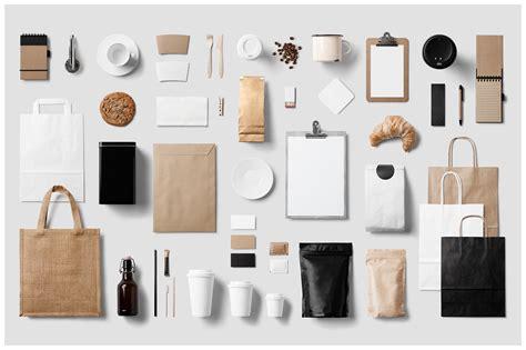 coffee stationery branding mock  product mockups