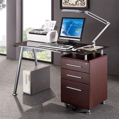 desk with locking file cabinet modern design office locking file cabinet computer desk ebay