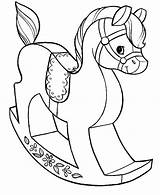 Coloring Toys Pages Horse Wooden Grab Button Using Paper sketch template