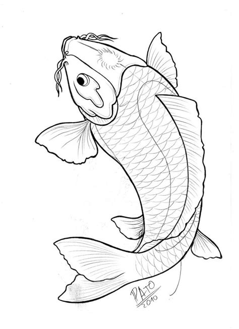 koi by patoink | Koi fish drawing, Fish drawings, Japanese