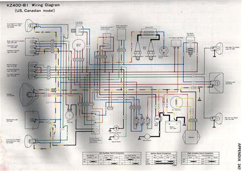 Wire Diagram 1975 Kz400 by 78 Kz400 Lighting Signals Gauges Kzrider Forum