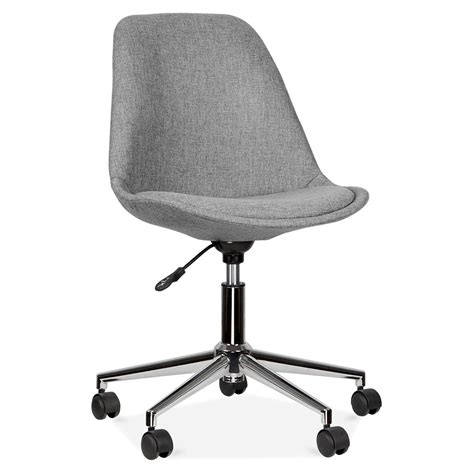 chaise de bureau eames eames inspired upholstered office chair with castors cult uk