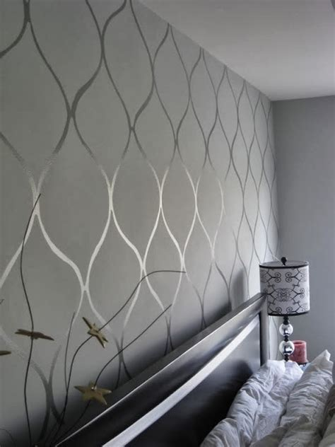 cup  full wall stenciling