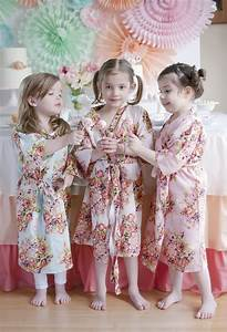 Little Girl Robes – Kids Spa party robes » Laughing Cherries