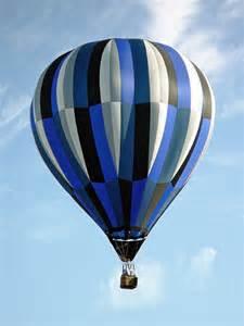 White and Blue Hot Air Balloon