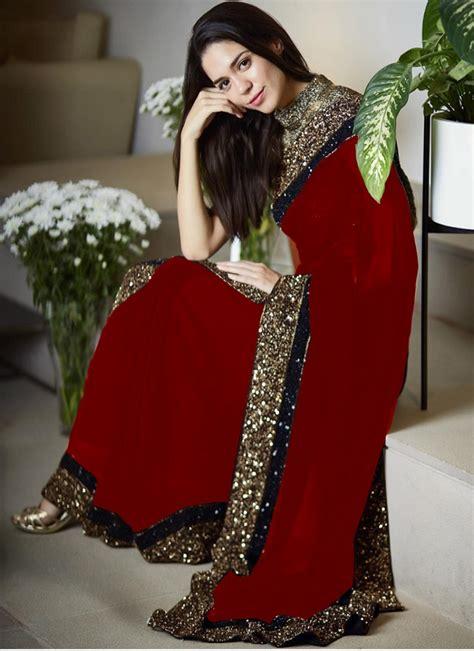 myntra chiffon saree collection  pakistani dresses