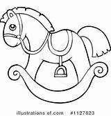 Horse Rocking Clipart Coloring Illustration Drawing Royalty Visekart Rf Printable Sheets Getcolorings Preschool Getdrawings sketch template