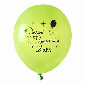 Anniversaire 18 Ans Deco : achat ballon joyeux anniversaire vert anis 18 ans x 8 mariage anniversaire 1001 deco table ~ Preciouscoupons.com Idées de Décoration