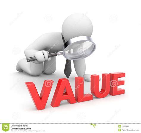Person examines value stock illustration. Illustration of ...