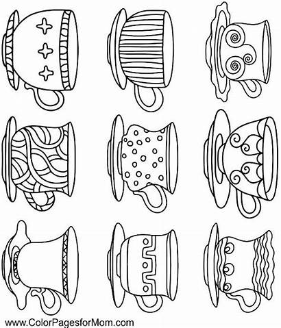 Coloring Tea Adult Coffee Printable Colour Patterns