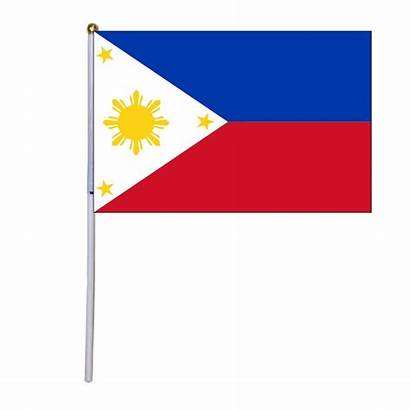 Flag Philippines Hand Flags National Waving Shipping