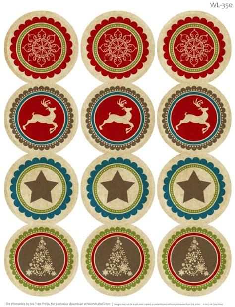 rustic christmas printable label set worldlabel blog