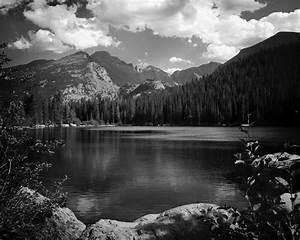 Grayscale Mountain Scenery  U00b7 Free Stock Photo