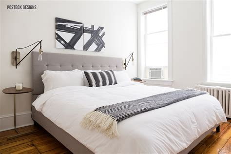 neutral modern boho bedroom makeover reveal