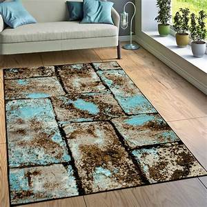Polypropylen Teppich Erfahrung : designer teppich wohnzimmer moderne stein optik mauer design braun blau ebay ~ Yasmunasinghe.com Haus und Dekorationen