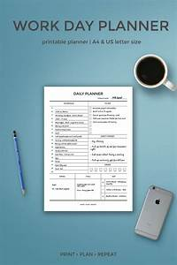 Day Planner Printable Daily Planner For Work Work Day Planner Printable Day