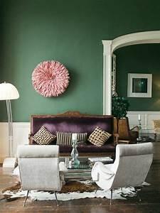Wandfarben Wohnzimmer Beispiele : wandfarben geschickt aussuchen sch ne w nde kreieren wandfarbe gr n lila pinterest ~ Markanthonyermac.com Haus und Dekorationen