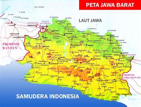 peta jawa barat lengkap dengan daftar nama 18 kabupaten
