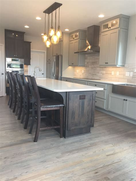 gray kitchen floors with oak cabinets kitchen remodel cabinets custom cupboards in mocha and