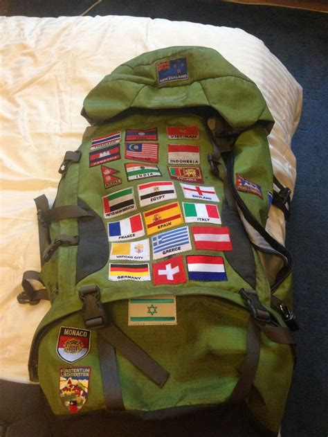 sew patches    backpack   country
