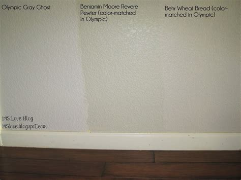 greige paint wall swatches olympic gray ghost benjamin