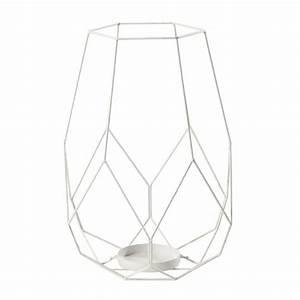 Windlicht Weiß Metall : windlicht yuko aus metall h 41 cm wei maisons du monde ~ Markanthonyermac.com Haus und Dekorationen
