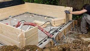 Dalle De Jardin Beton : comment faire une dalle en b ton pour un abri de jardin travaux b ton ~ Melissatoandfro.com Idées de Décoration