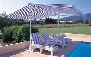 Store Banne Sur Pied : parasol double pente professionnel store de terrasse ~ Premium-room.com Idées de Décoration