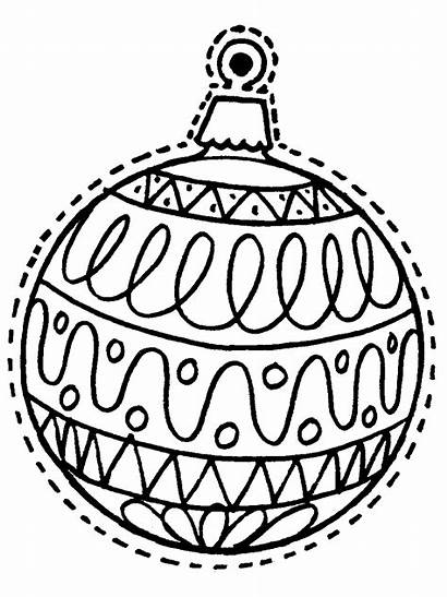 Coloring Christmas Ornament Printable Pages Sheets Ornaments