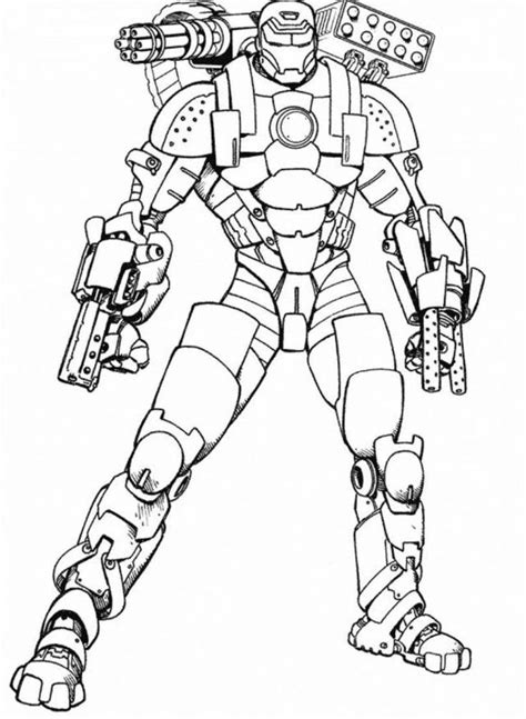 ironman coloring pages    print
