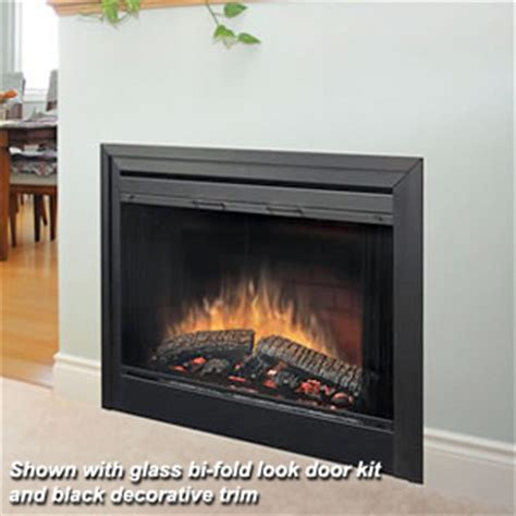 sided fireplace insert dimplex 39 in 2 sided built in electric fireplace insert
