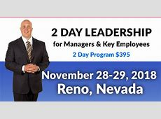 Leadership Training Workshop Reno November 28 & 29