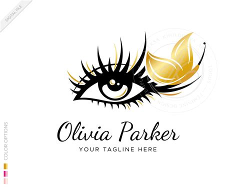 digital premade eyelash extension logo template