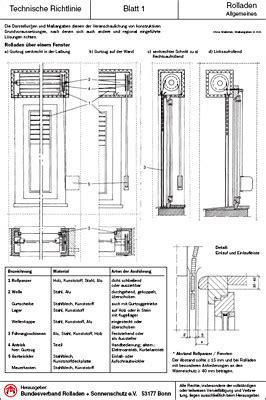 technische richtlinie raffstore sonnenschutz