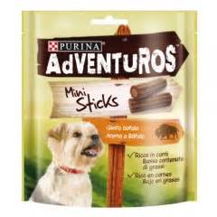snacks purina adventuros mini sticks  aroma  bufalo