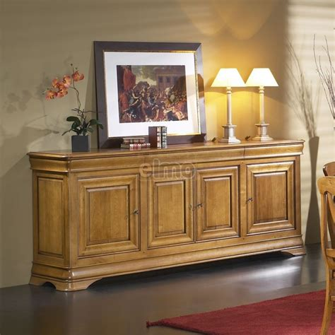 armoire chambre bois massif enfilade 4 portes merisier massif style louis philippe